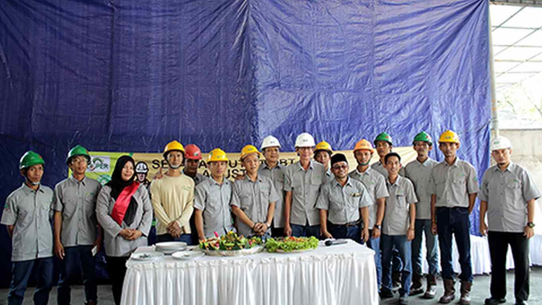Pimpinan dan Karyawan PT RBT Upacara HUT ke-73 Kemerdekaan RI dan HUT ke 2 RBT