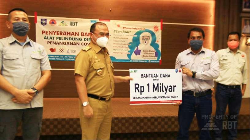 PT RBT Serahkan Bantuan Dana Rp 1 Milyar dan Ribuan APD untuk Penanganan Covid-19 di Bangka Belitung