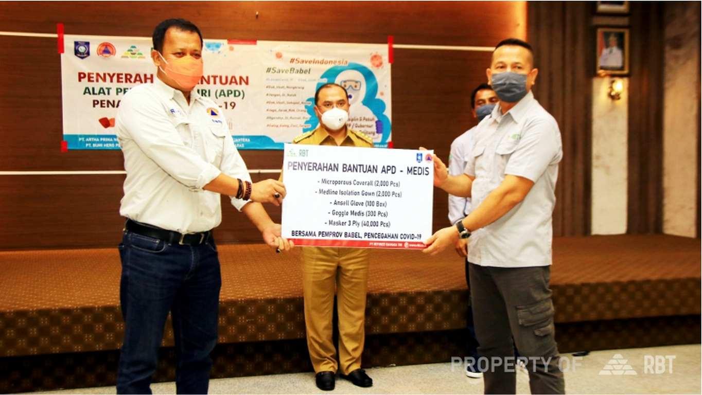 Gubernur Bangka Belitung Apresiasi PT RBT Bantu Pencegahan Covid-19